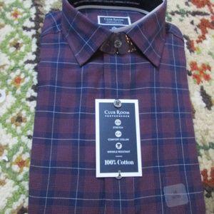 Club Room Shirt Size 16 32-33 NWT